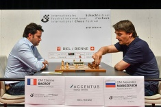 Etienne Bacrot Leads GM Tournament in Biel