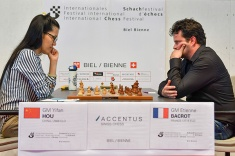 Hou Yifan Outplays Etienne Bacrot in Round 7 of GM Tournament in Biel